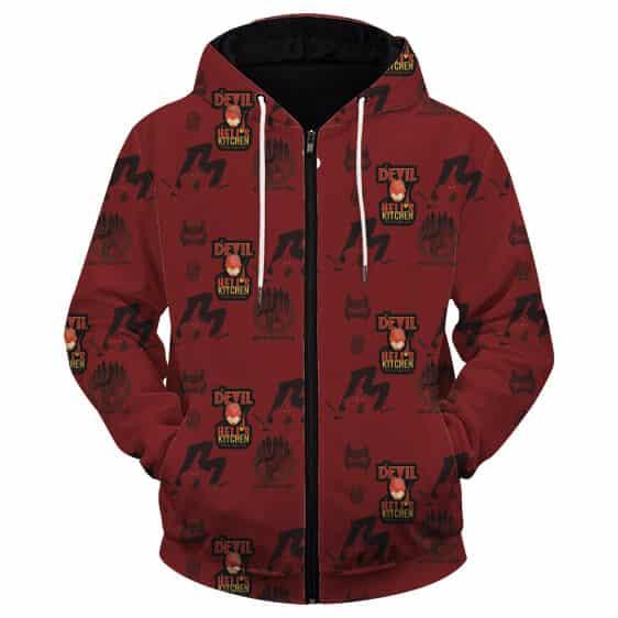 The Daredevil Matthew Murdock Cool Red Zip Up Hoodie