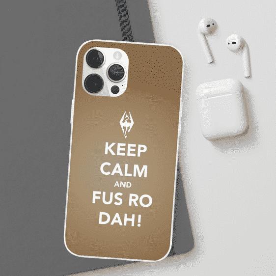 The Elder Scrolls V Skyrim Keep Calm Brown iPhone 12 Case