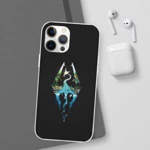 The Elder Scrolls V Skyrim Logo Black iPhone 12 Cover