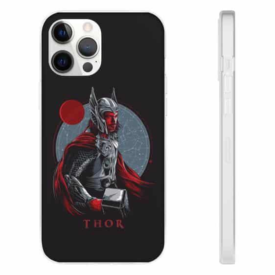 Thor God of Thunder Holding The Mjolnir iPhone 12 Case