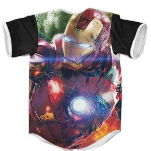 Tony Stark Iron Man Mark VII Armor Dope Baseball Jersey