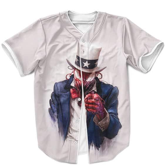 Venom Carnage Uncle Sam US Army Parody White MLB Jersey