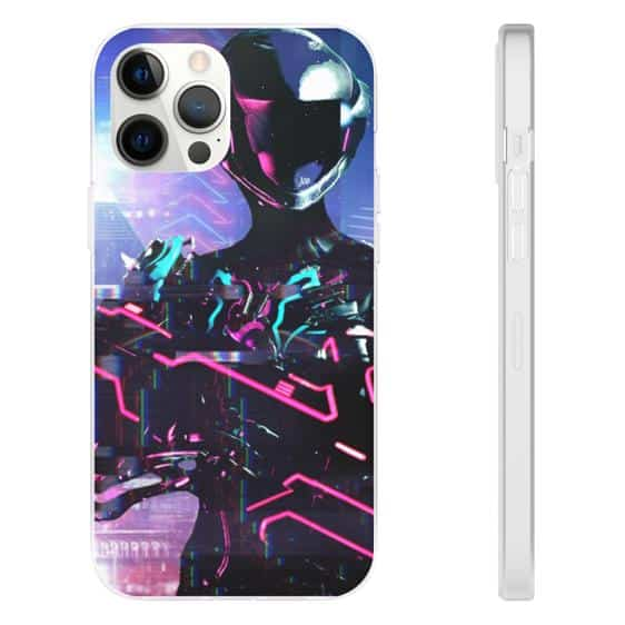 Warframe Tenno Race Neon Warrior iPhone 12 Fitted Case
