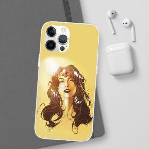 Wonder Woman Comic Illustration Yellow iPhone 12 Case