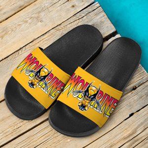 X-Men Mutant Hero Wolverine Chibi Style Dope Slide Sandals