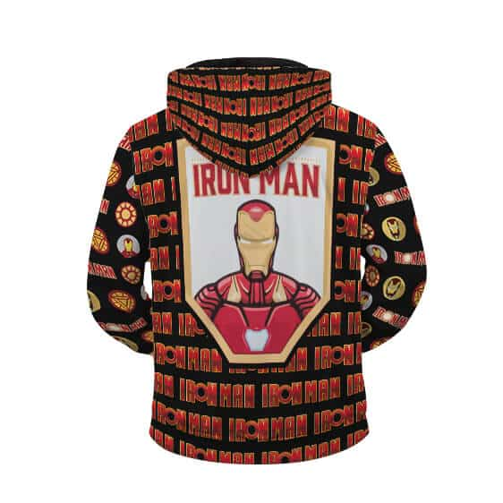 The Invincible Iron Man Tony Stark Awesome Pattern Zip Up Hoodie
