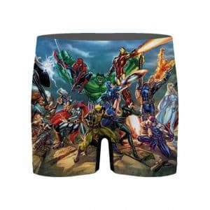 Awesome Marvel Heroes Omega RPG Men's Boxer Shorts