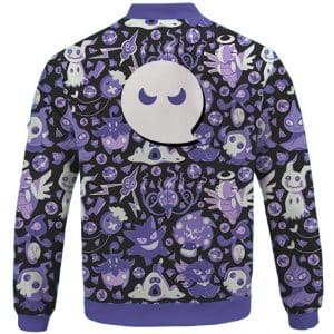 Ecstatic Ghost Type Pokemon Pattern Violet Bomber Jacket