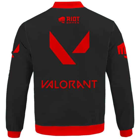 Riot Games Valorant Red Logo Awesome Bomber Jacket