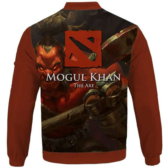 Mogul Khan The Mighty Axe Dota 2 Maroon Letterman Jacket