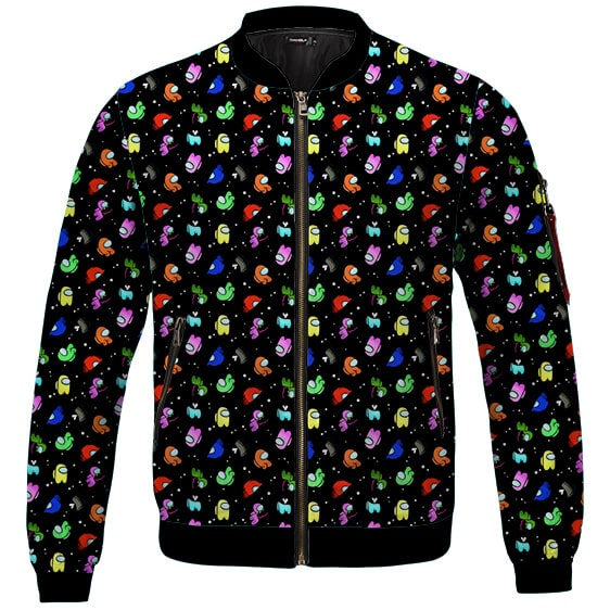 Among Us Crewmates Ejected Adorable Pattern Bomber Jacket