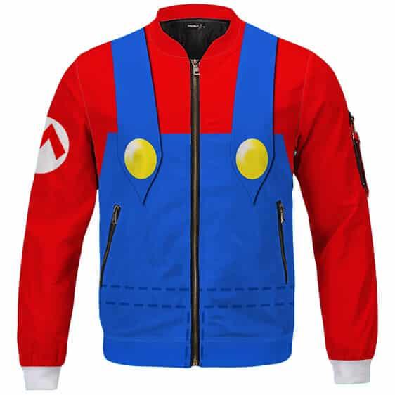 Awesome Super Mario Costume Cosplay Bomber Jacket