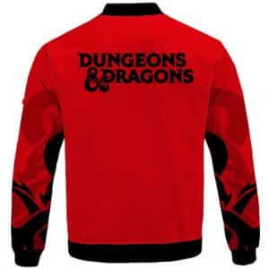 Dope D&D Dungeons & Dragons Logo Red Letterman Jacket