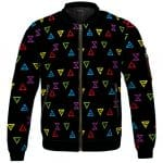 Amazing The Witcher Elemental Signs Pattern Letterman Jacket