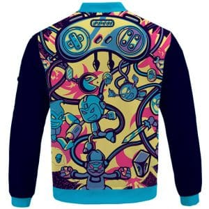 Super Nintendo SNES Retro Games Pop Art Varsity Jacket