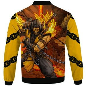 Scorpion Iconic Kunai Stinger Dope Artwork Letterman Jacket