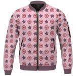 Adorable Kirby & Star Pattern Raspberry Pink Varsity Jacket