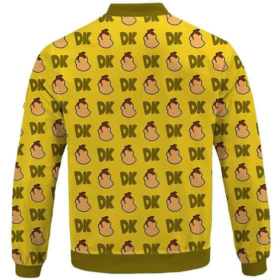 Classic Nintendo Villain Donkey Kong Pattern Varsity Jacket