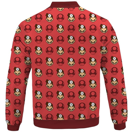 Awesome Doctor Mario Pattern Cool Red Letterman Jacket