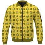 Kirby Fighters King Dedede Pattern Yellow Cute Bomber Jacket