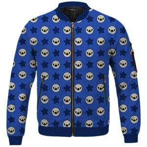 Kirby Fighters Meta Knight Blue Dope Letterman Jacket
