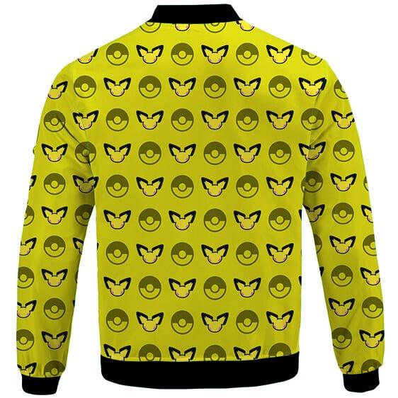 Pokemon Pichu & Pokeballs Adorable Pattern Varsity Jacket