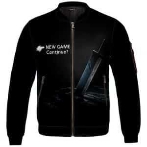 Final Fantasy VII Cloud Buster Sword Main Menu Bomber Jacket
