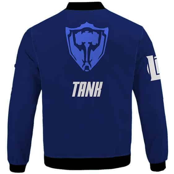 Tank Main Icon League Of Legends Blue Letterman Jacket