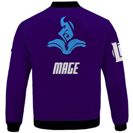 League Of Legends Mage Role Icon Violet Varsity Jacket