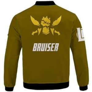 League Of Legends Bruiser Role Icon Beige Lettermen Jacket