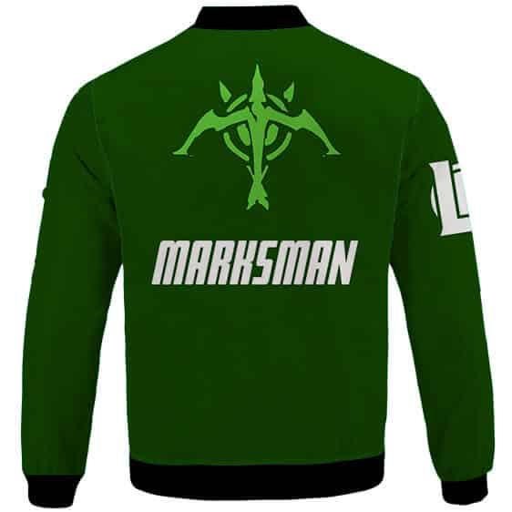 League Of Legends Marksman ADC Icon Green Bomber Jacket