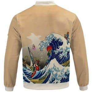 Legend Of Zelda Wind Waker Hokusai Parody Bomber Jacket