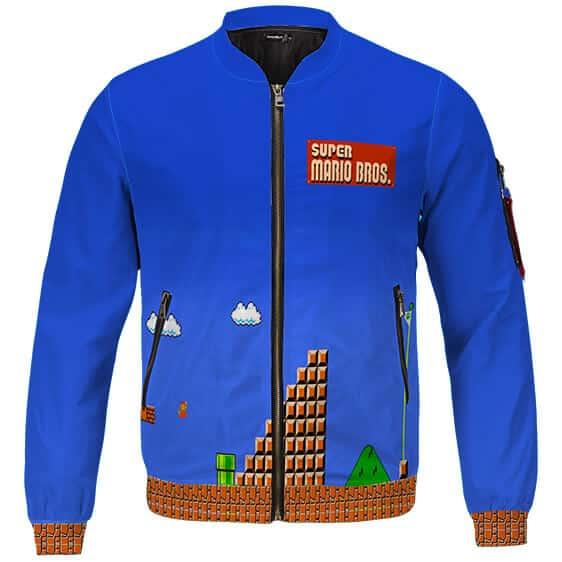 Classic Retro Game Super Mario Bros 8 Bit Letterman Jacket