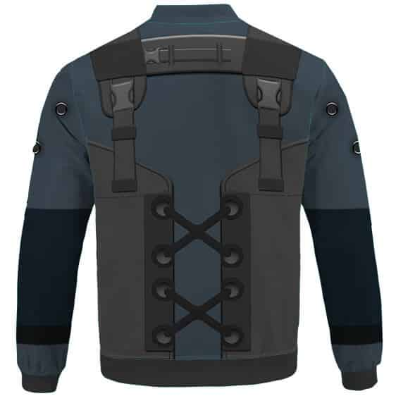 MGS2 Solid Snake Sneaking Suit Cosplay Bomber Jacket