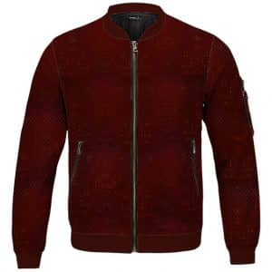 Monster Hunter Rathalos Red Scale Pattern Bomber Jacket