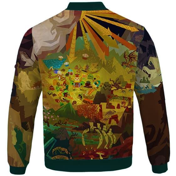 Monster Hunter 4 Ultimate Mural Artwork Dope Varsity Jacket
