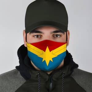 Captain Marvel Military-Inspired Suit Cloth Face Mask