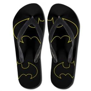 Classic Batman Logo Black & Yellow Flip Flop Slippers