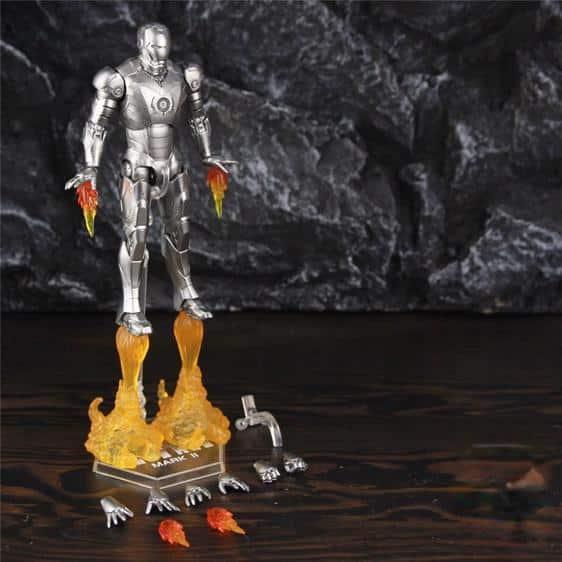 Classic Iron Man Silver Mark II Armor Posable Figure
