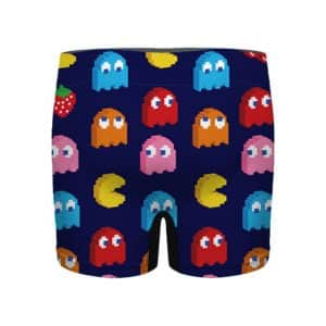 Classic Pac-Man Ghosts and Fruits Pattern Men's Underwear
