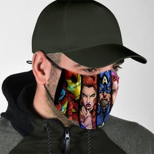 Comic Superheroes Illustration Art Marvel Face Mask