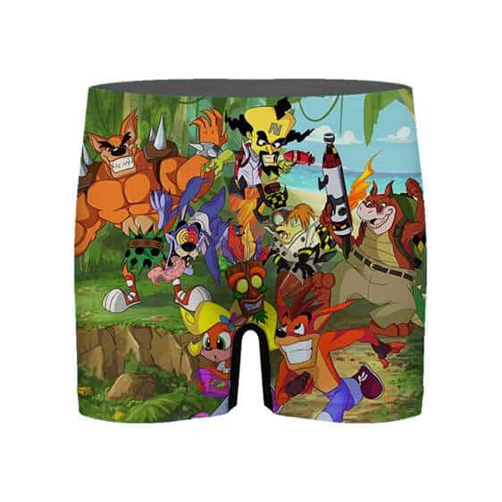 Crash Bandicoot Game Characters Men's Boxer Shorts