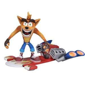 Crash Bandicoot with Jet Board Movable Joint Toy Figure
