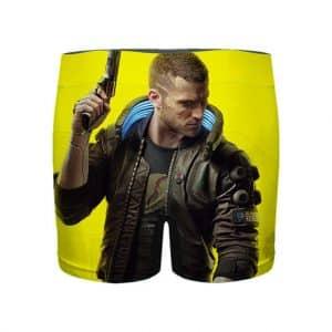 Cyberpunk 2077 Mercenary Vincent Yellow Men's Boxer Briefs