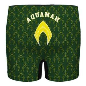DC Comics Aquaman Pattern Art Green Men's Underwear