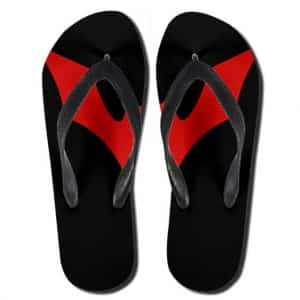 DC Comics Batman Beyond Red Bat Logo Epic Flip Flop Slippers
