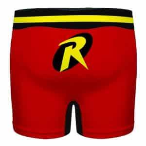 DC Comics Classic Robin Costume Style Red Men's Boxers