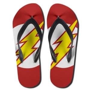 DC Comics Flash Lightning Bolt Logo Flip Flop Slippers