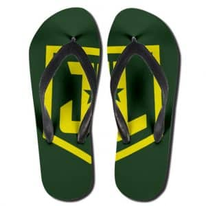DC Comics Justice League Symbol Awesome Flip Flop Slippers