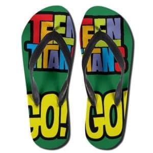 DC Comics Teen Titans Go! Logo Unique Flip Flop Slippers